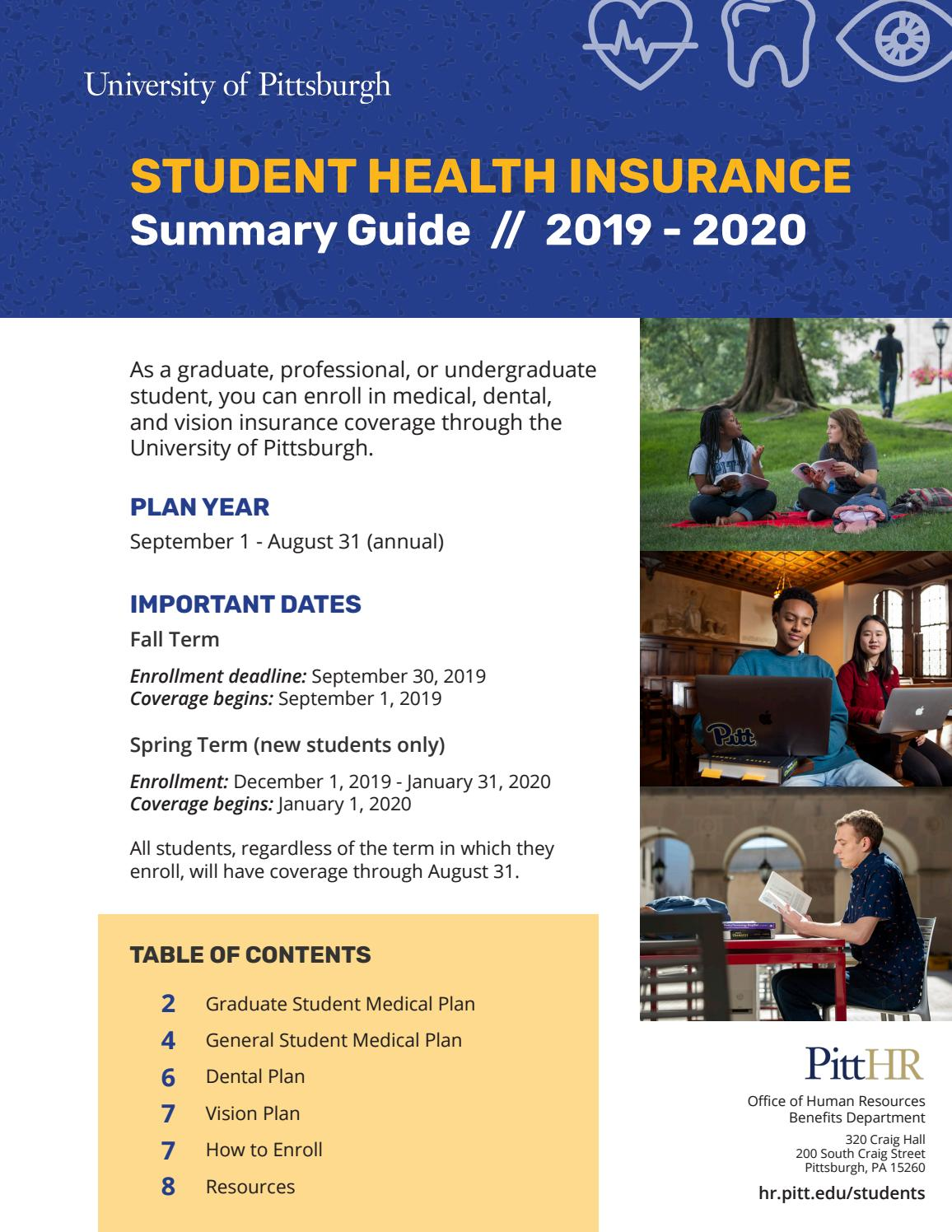 2019-20 Student Health Insurance Summary Guide by ...