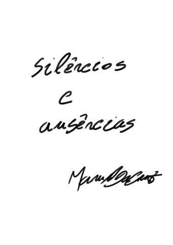 Silêncios E Ausências Manuel Da Cruz By Manuel Da Cruz Issuu