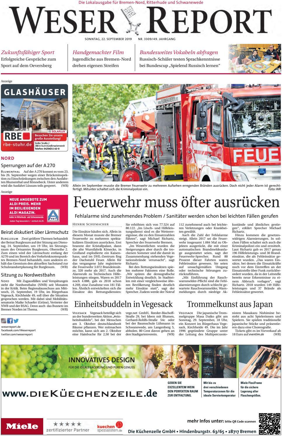 Weser Report Nord Vom 22 09 2019 By Kps Verlagsgesellschaft Mbh