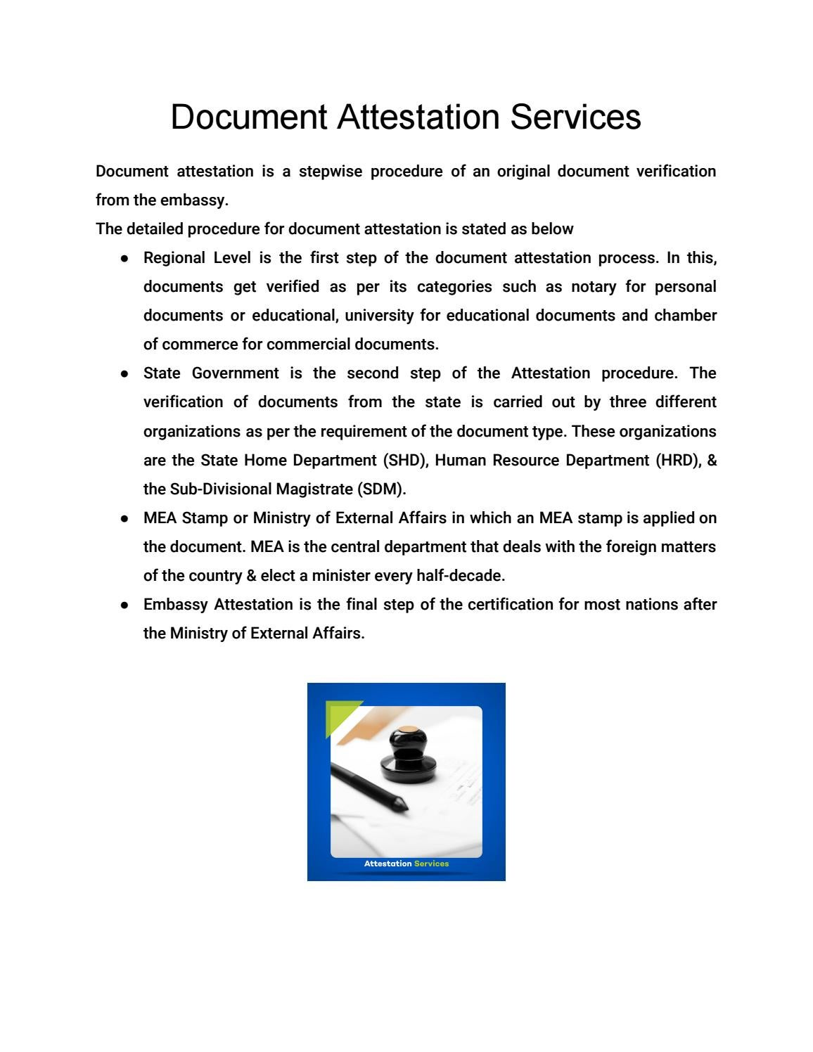 Document Attestation Services By Pec Attestation Apostille And Translation Services Issuu