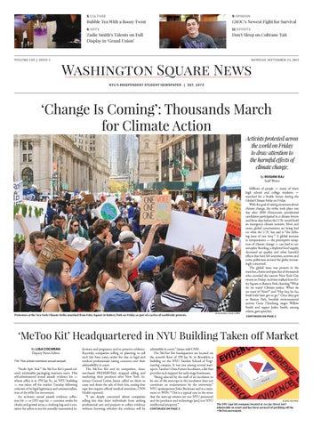 Washington Square News | September 23  2019 by Washington