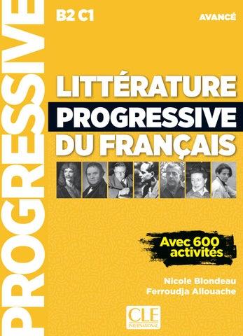 Litterature Progressive Du Francais Niveau Avance Livre Nouvelle Couverture By Cle International Issuu