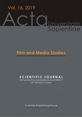 Film And Media Studies Vol 16 2019 By Acta Universitatis Sapientiae Issuu