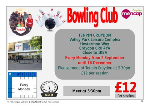 Page 10 of Bowling Club - every Monday evening
