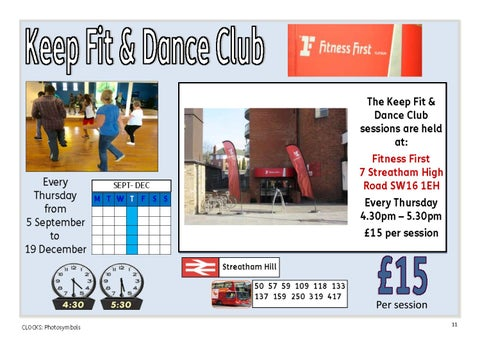 Page 11 of Keep Fit & Dance Club - every Thursday evening