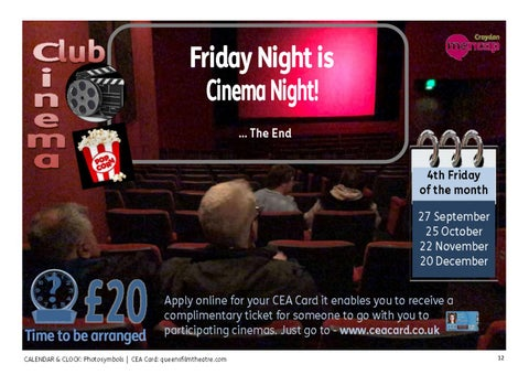 Page 12 of Cinema Club - on the 4th Friday of each month