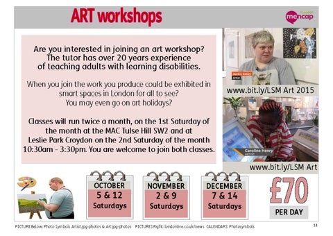 Page 13 of Art Workshops - twice a month