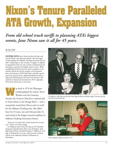 Page 11 of Nixon's Tenure Paralleled ATA Growth, Expansion