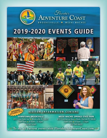 Brooksville Blueberry Festival 2020.Florida S Adventure Coast 2019 2020 Annual Events Guide By