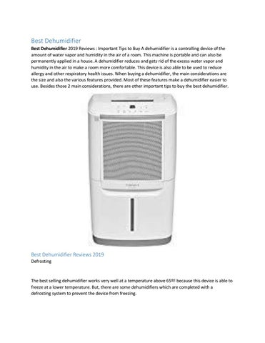 Best Dehumidifier 2019 Reviews by kitchen home stores - issuu on