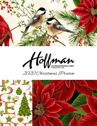 Christmas 2020.Christmas 2020 Preview By Hoffman California Fabrics Issuu