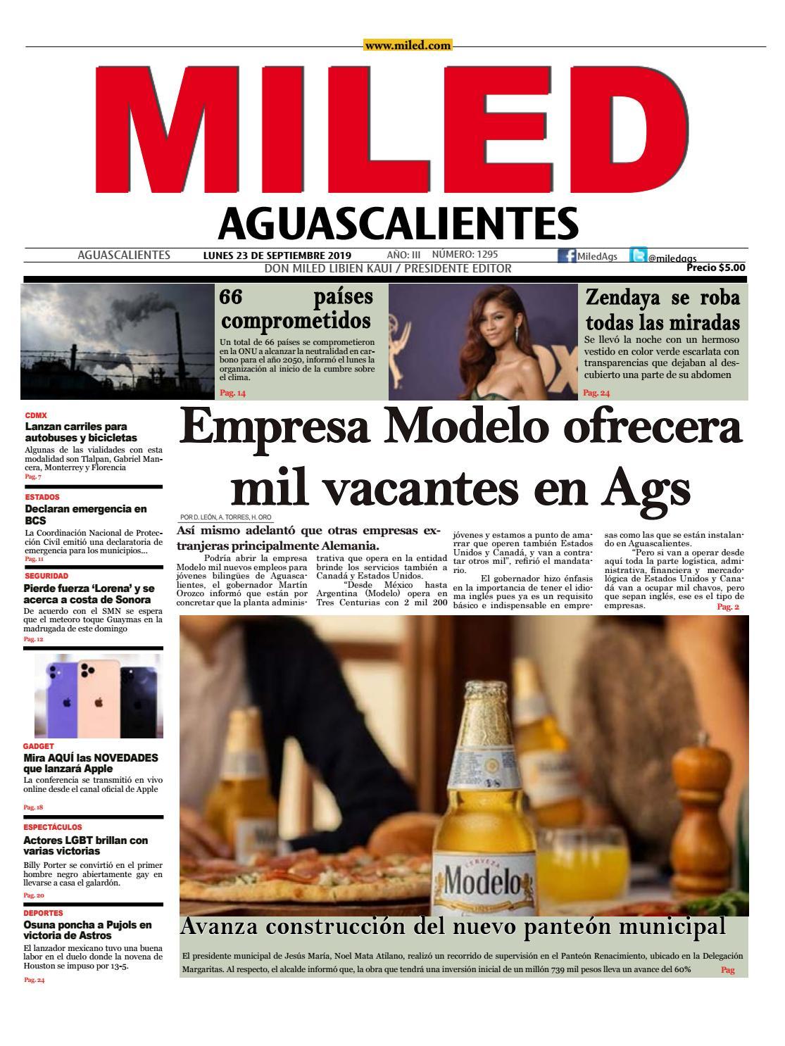 Miled Aguascalientes 23 09 19 By Miled Estados Issuu