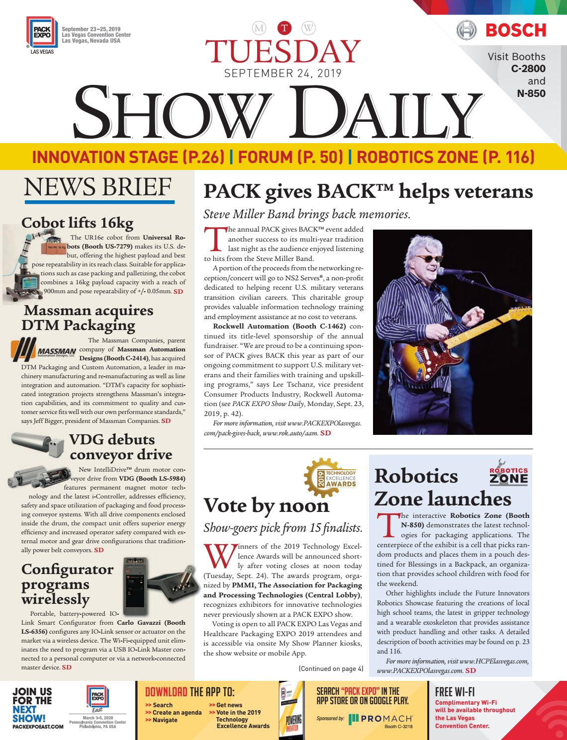 PACK EXPO Las Vegas / Healthcare Packaging EXPO Show Daily