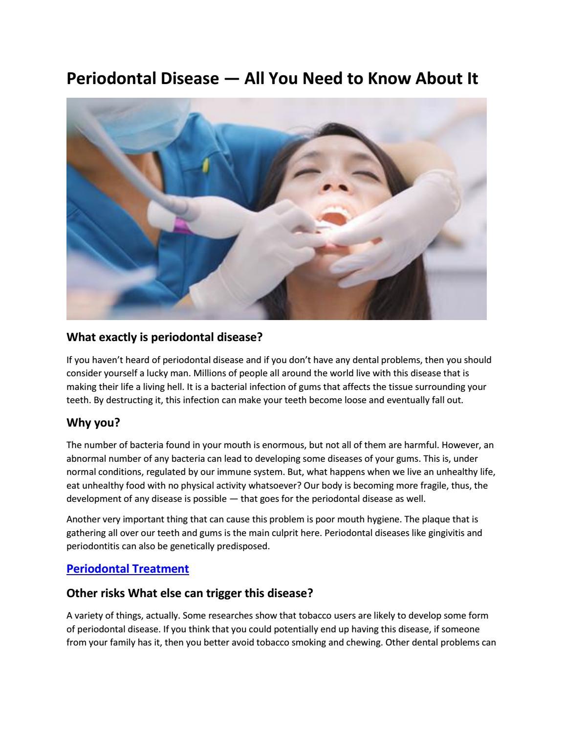 Periodontal Treatment by Saddaf Khan - issuu