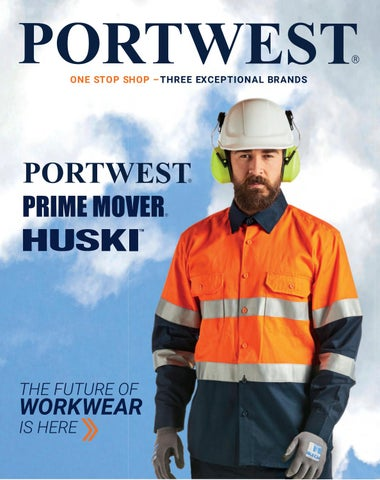 Portwest H443 Work Wear High Visibility Classic Contrast Rain Jacket Waterproof