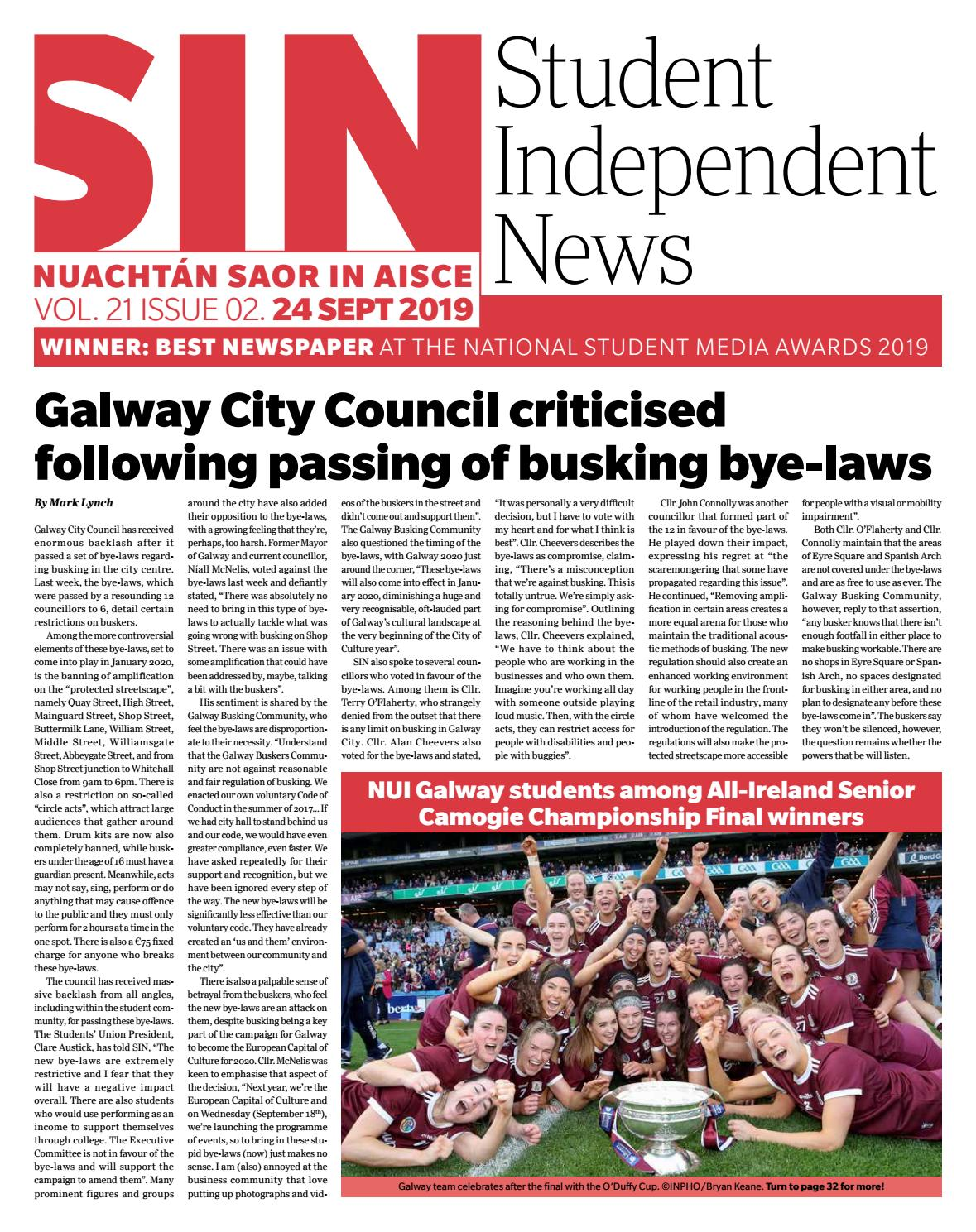 SIN Volume 21 Issue 2 by Student Independent News issuu