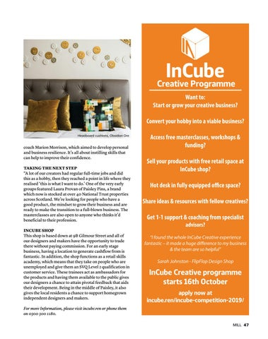 Page 47 of Incube Creative Programme