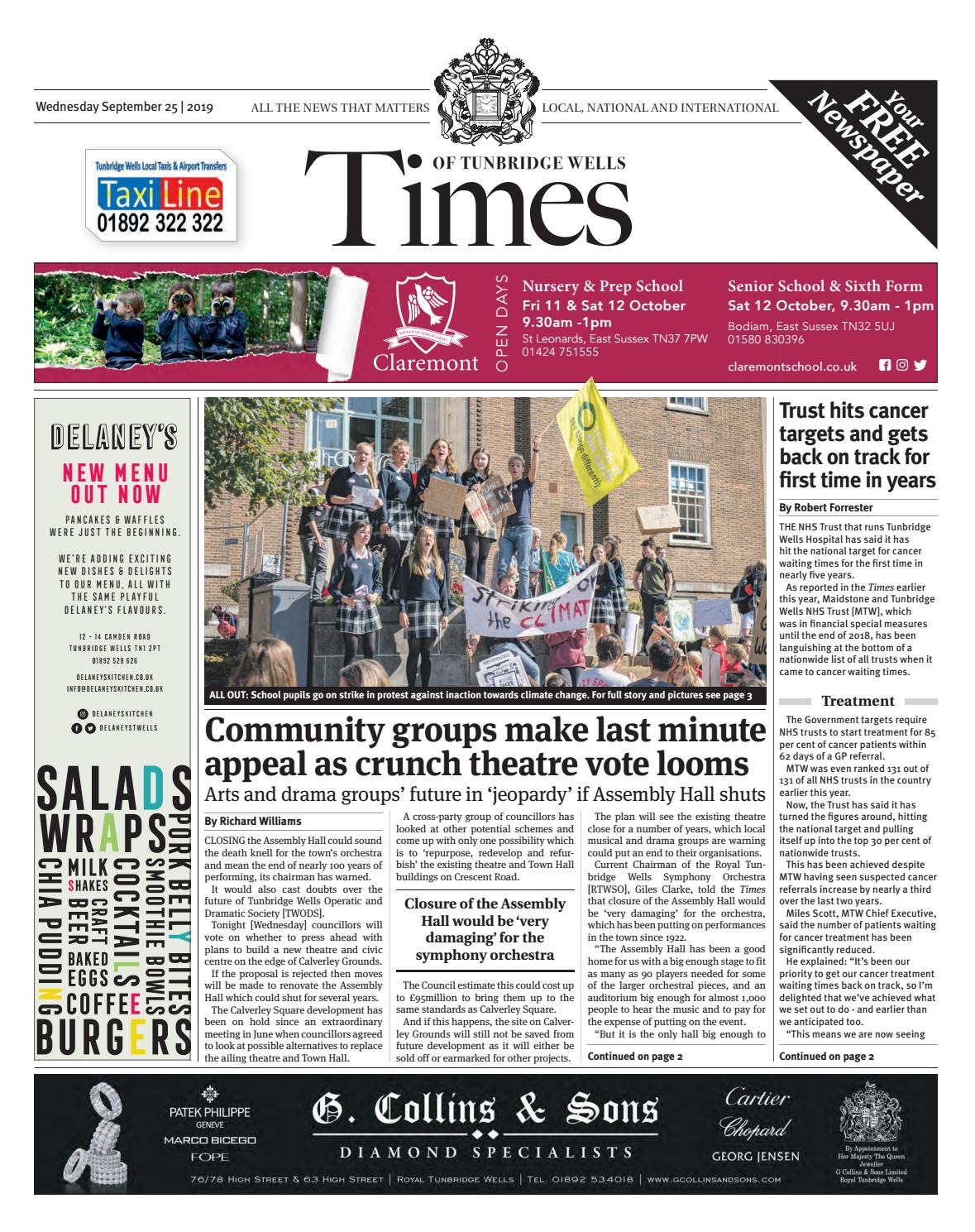 Times Of Tunbridge Wells 25th September 2019 By One Media Issuu