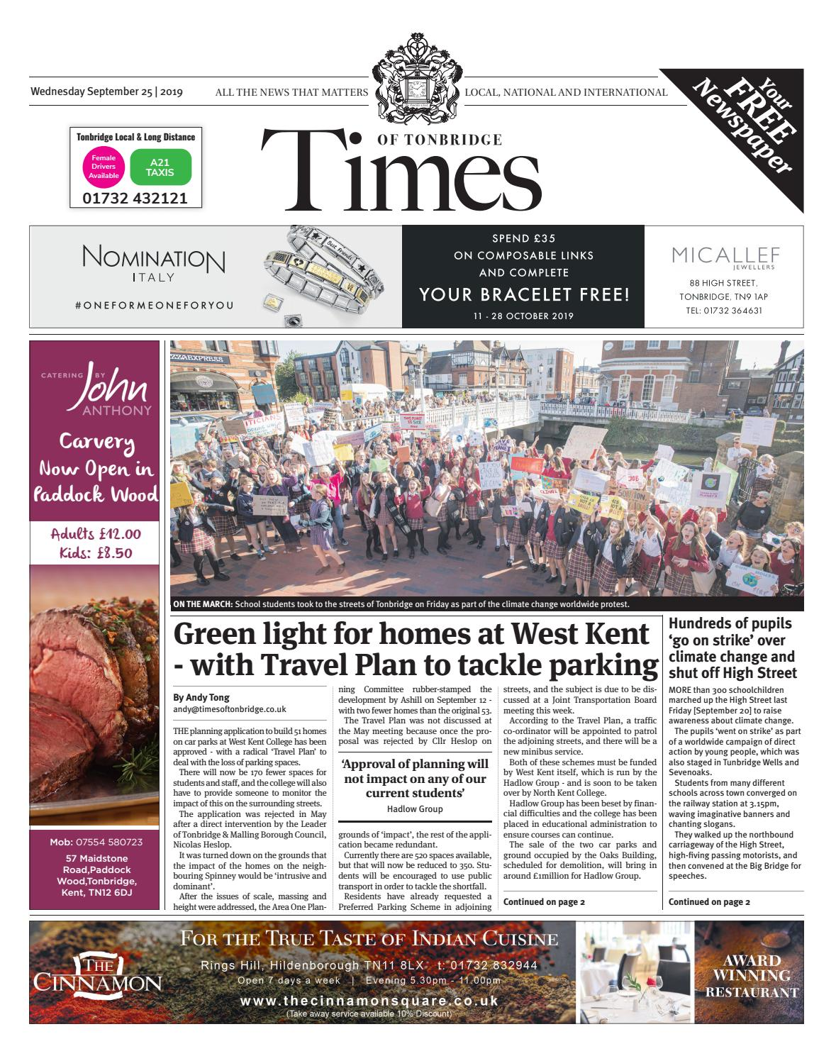 Times Of Tonbridge 25th September 2019 By One Media Issuu