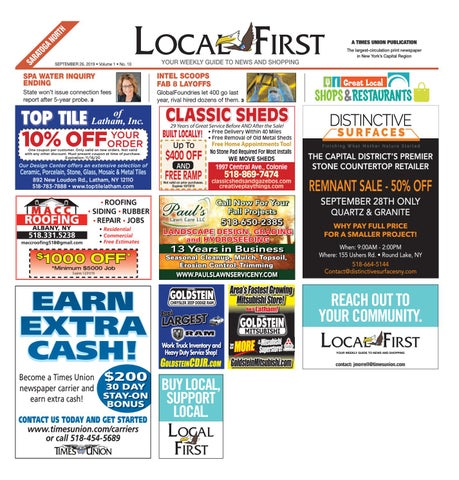 Local First Saratoga North 092619 By Capital Region Weekly