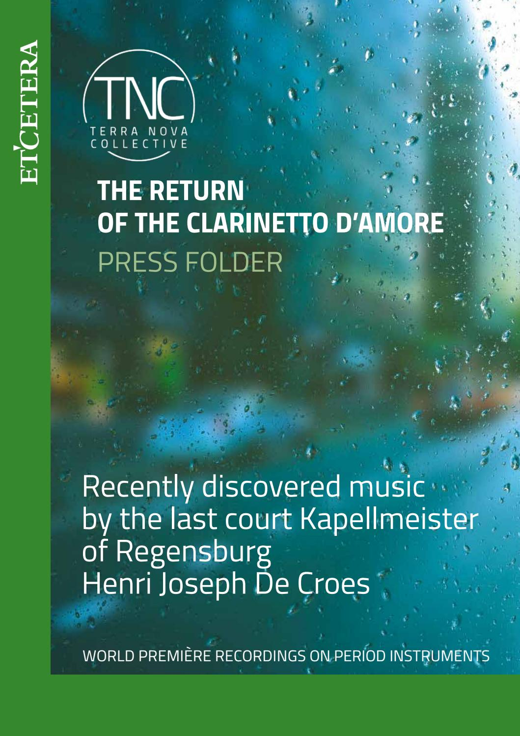 The Return Of The Clarinet D Amore By Axelds Issuu