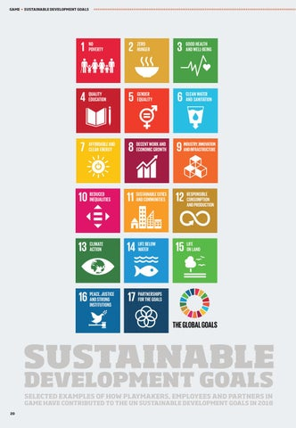 Page 20 of GAME - Sustainable Development Goals