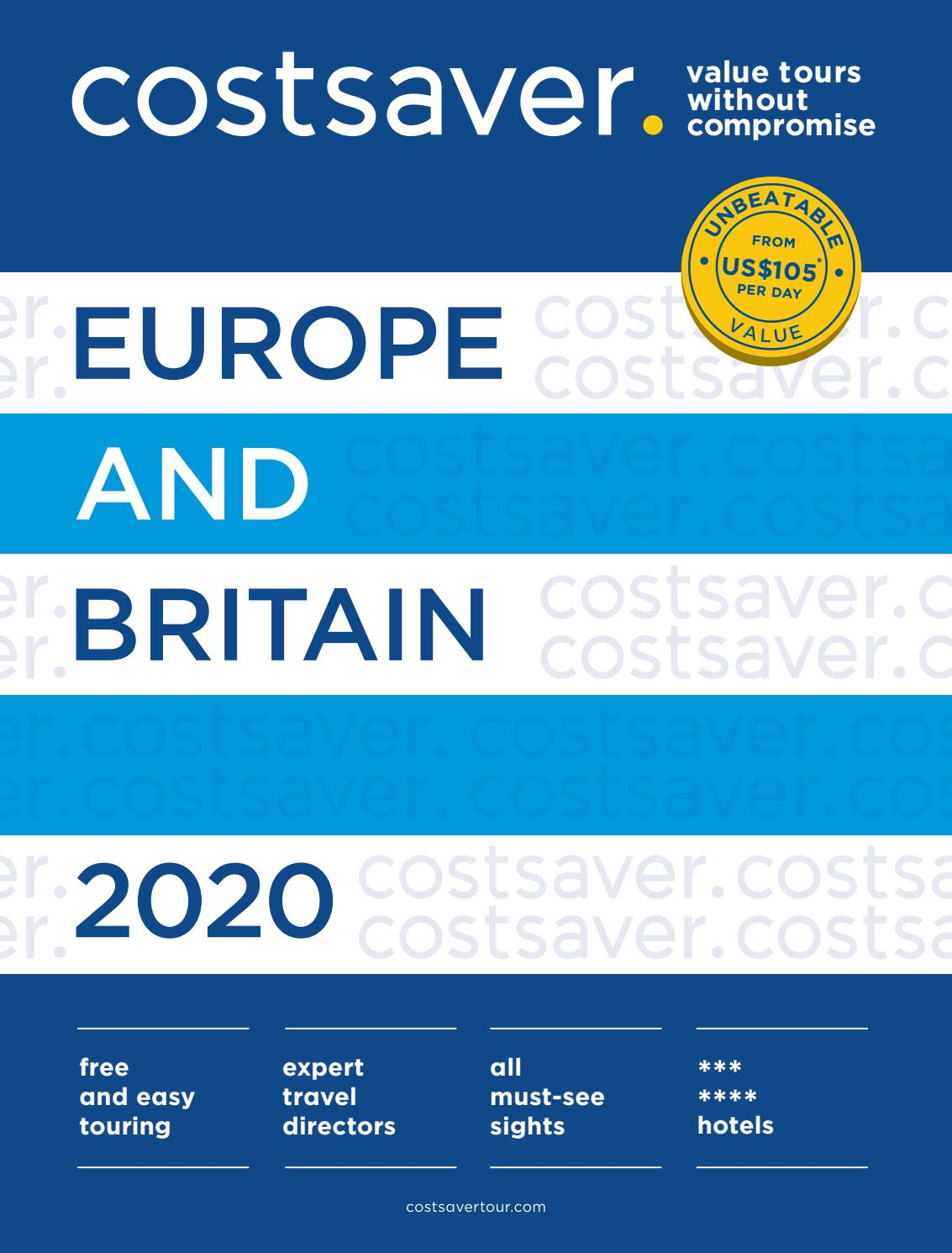 Costsaver Europe Britain 2020 By Trafalgar Issuu