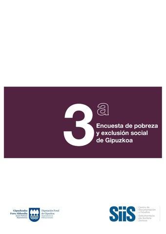 3ª Encuesta De Pobreza Y Exclusión Social De Gipuzkoa By