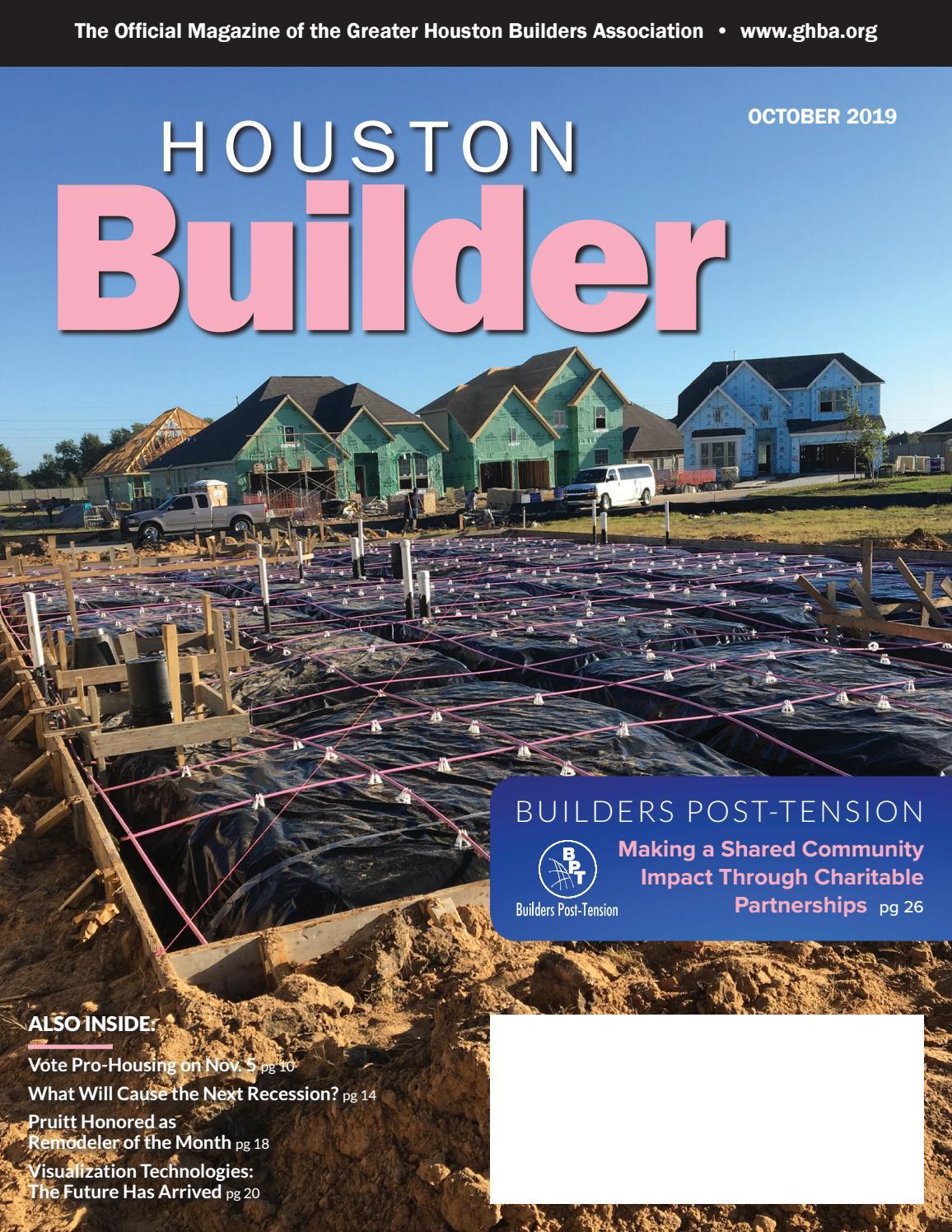 2 10 Home Warranty Brochure 2020.Houston Builder October 2019 By Ghba Issuu