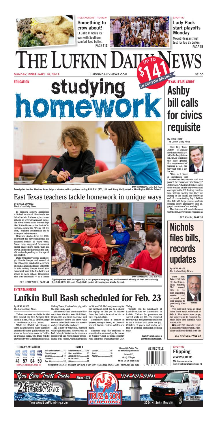 Southern Chrysler Dodge Lufkin Tx >> Lufkin Daily News February 10 2019 By The Lufkin Daily