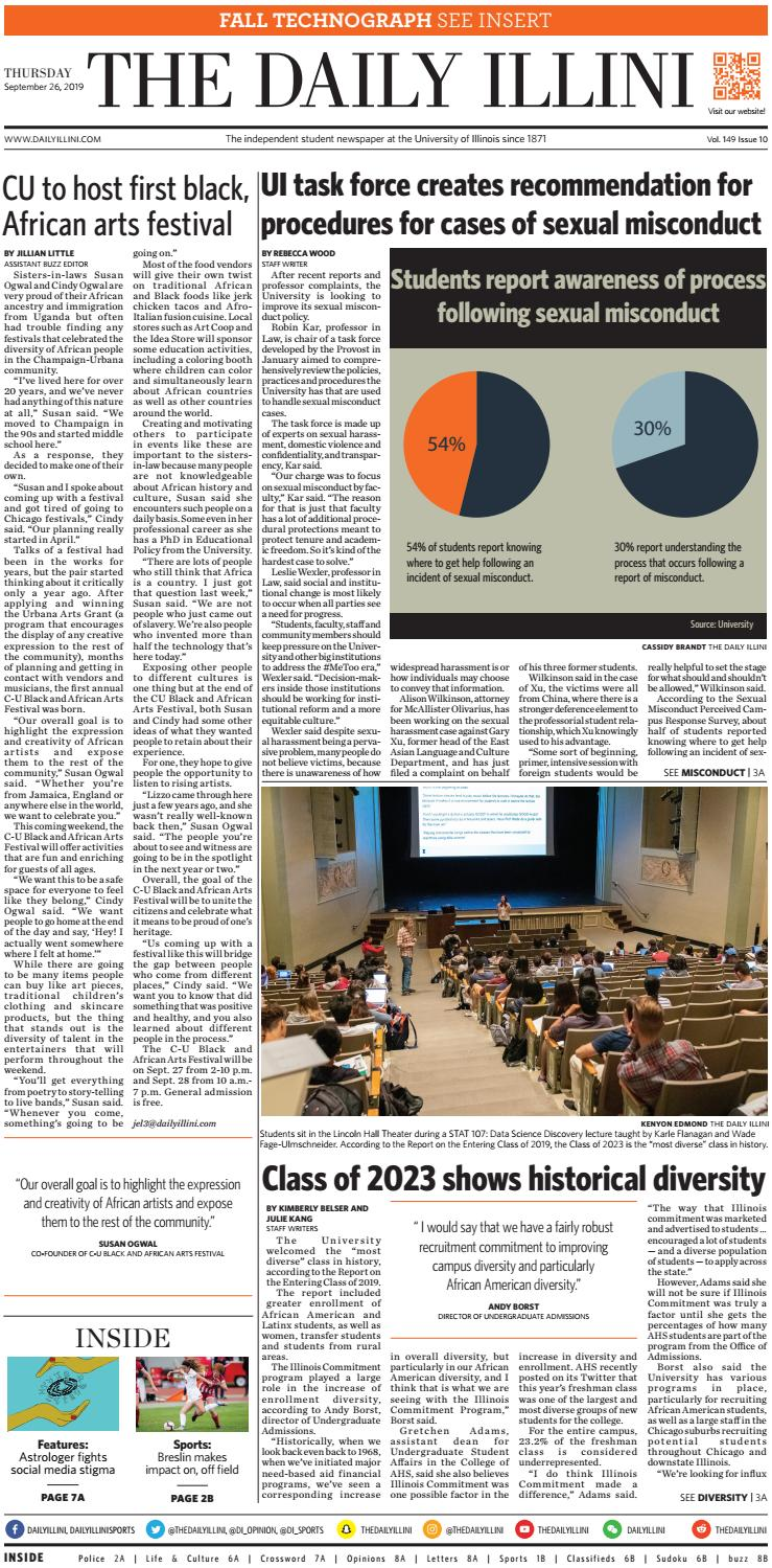 The Daily Illini: Volume 149 Issue 10 by The Daily Illini