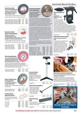 Pair 18mm Bore Axminster Evolution Series Bush for CBN Wheels
