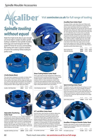 Axcaliber Spiral Jointing Cutter Head
