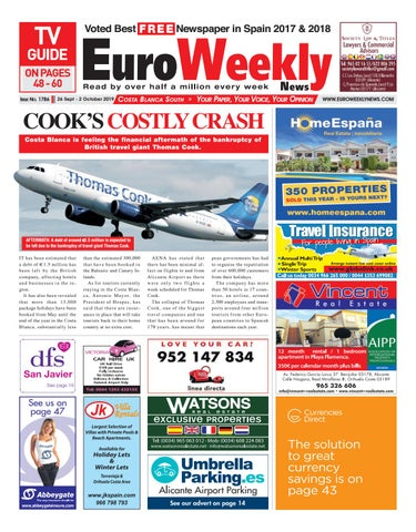 Euro Weekly News Costa Blanca South 26 September 2