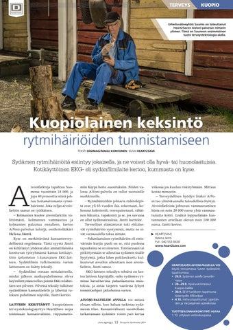 Page 13 of Kuopiolainen keksintö rytmihäiriöiden tunnistamiseen