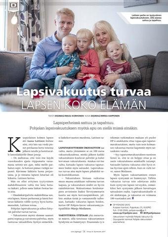 Page 14 of Lapsi-vakuutus turvaa lapsen koko elämän