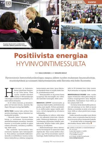 Page 75 of Positiivista energiaa hyvinvointimessuilta