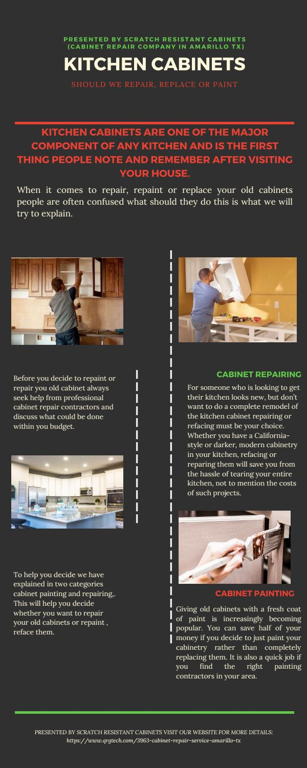 Kitchen Cabinets Repair Contractors CabiRepair Company Amarillo TX by John Reeves   issuu