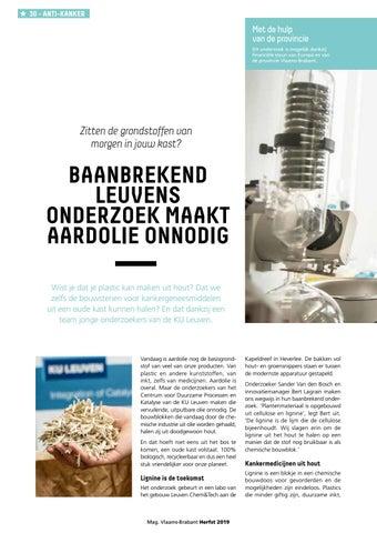 Page 30 of Baanbrekend Leuvens onderzoek maakt aardolie onnodig