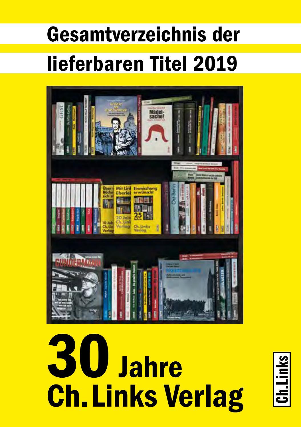 foto de Ch. Links - Gesamtverzeichnis 2019 by Ch. Links - issuu