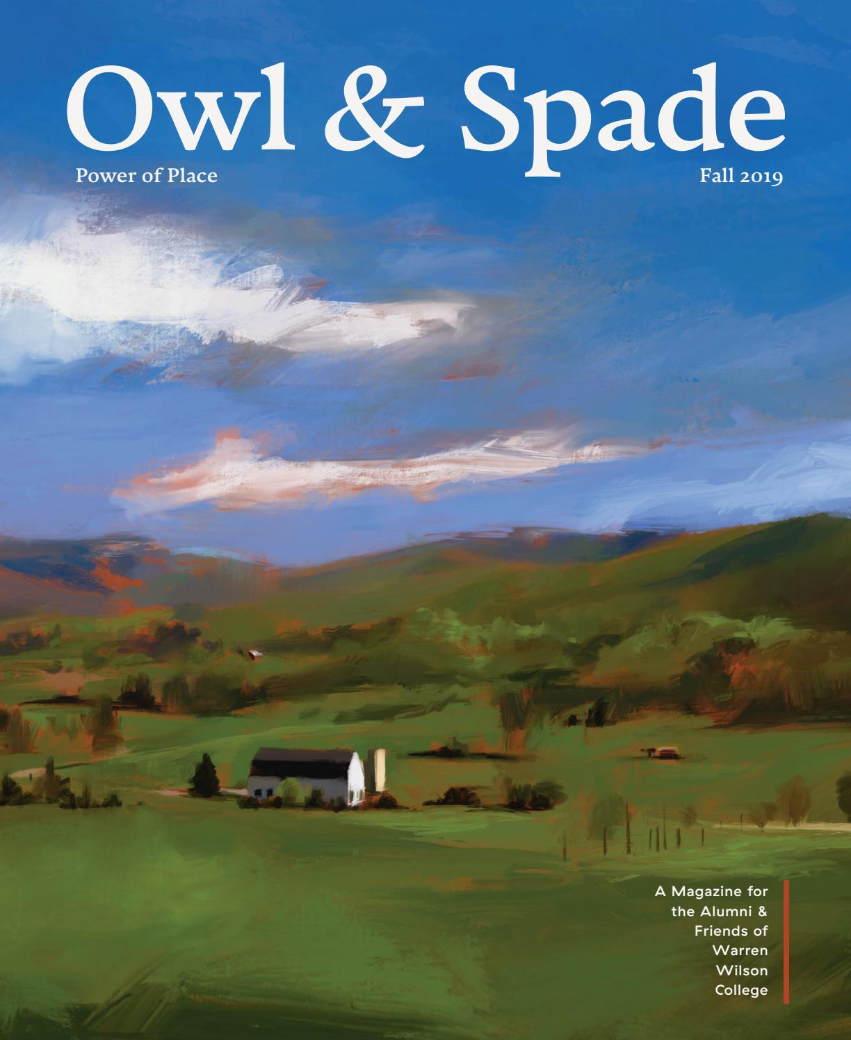Owl And Spade 2019 Power Of Place By Warren Wilson College Issuu