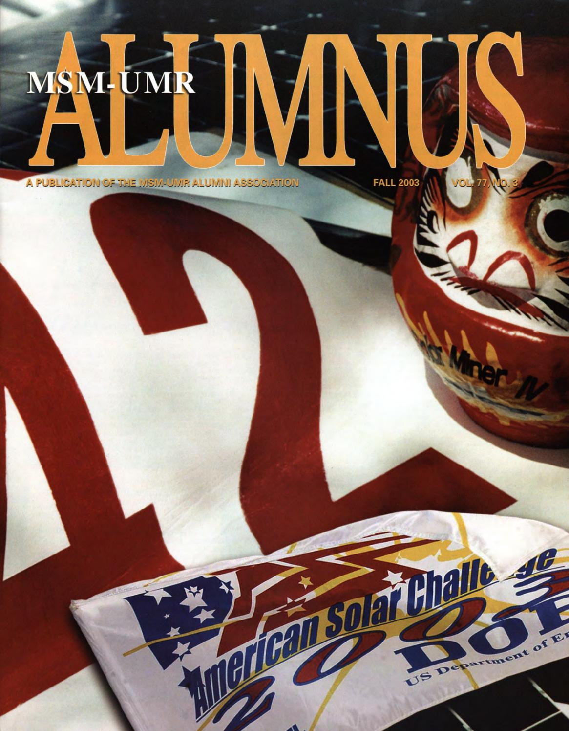 Missouri S&T Magazine Fall 2003 by Missouri S&T Library and ...