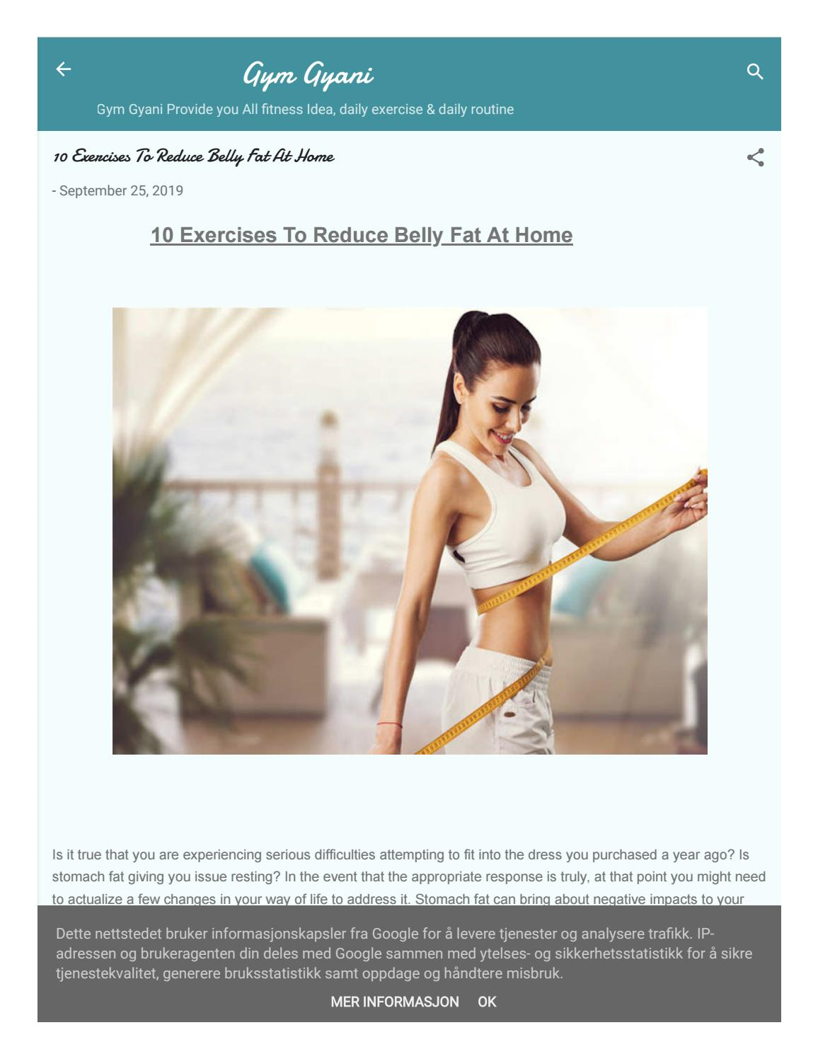 10 Exercises To Reduce Belly Fat At Home By Gymgyani Issuu