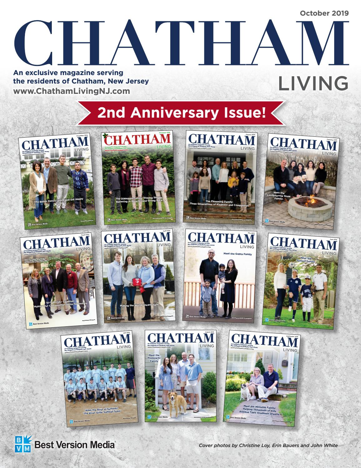 chatham living magazine, chatham, new jersey - october, 2019