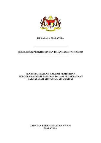 Penambahbaikan Kaedah Pemberian Pergerakan Gaji Tahunan Dlm Pelaksanaan Jadual Gaji Min Maks By Mhy Issuu