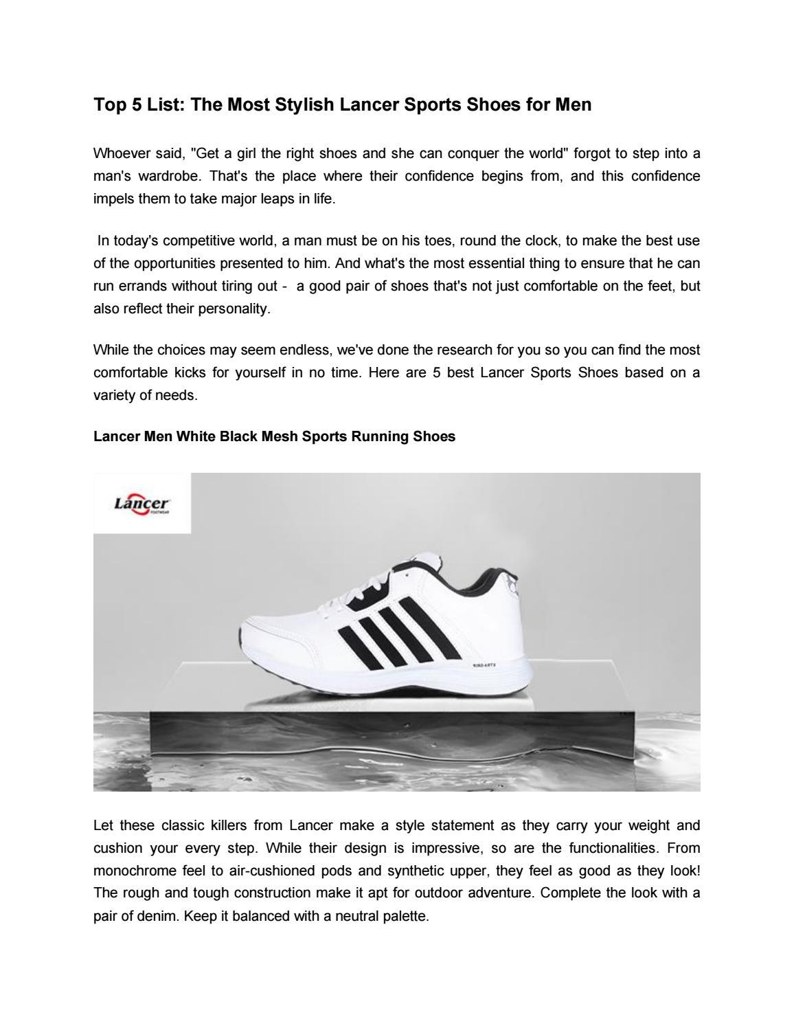 Most Stylish Lancer Sports Shoes