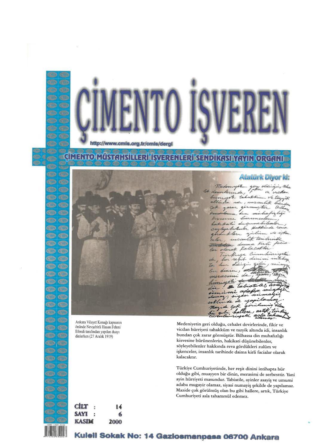 Cimento Isveren Dergisi Kasim 2000 By Ceis Takvim Issuu