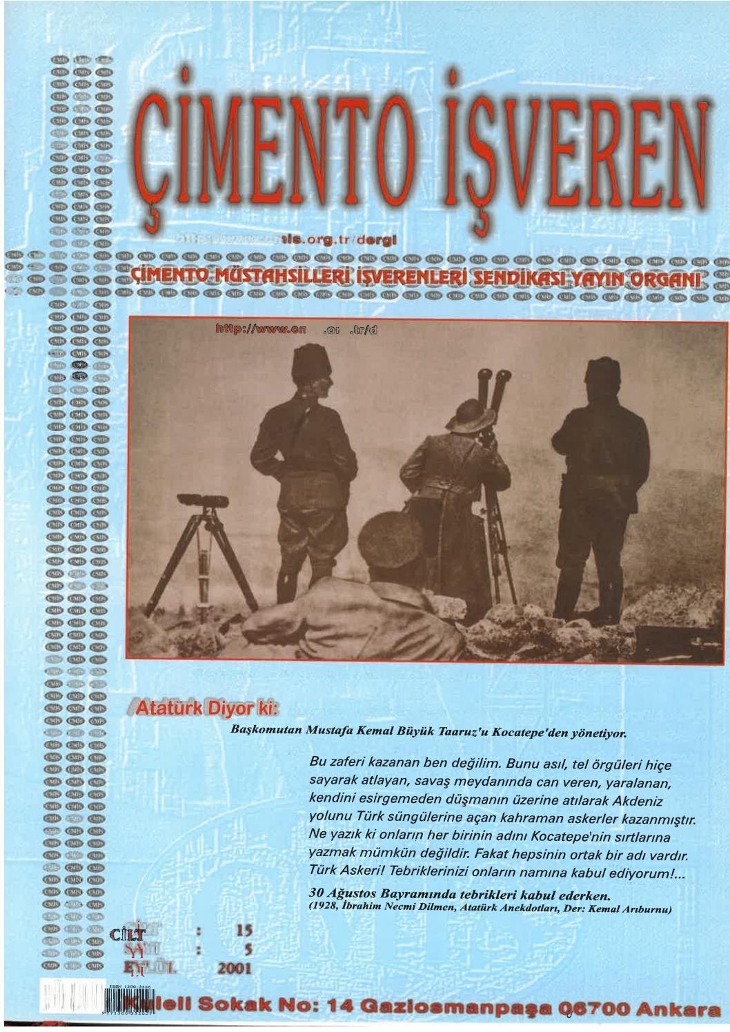 Cimento Isveren Dergisi Eylul 2001 By Ceis Takvim Issuu