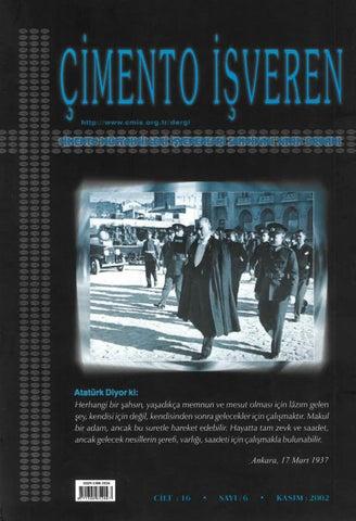 Cimento Isveren Dergisi Kasim 2002 By Ceis Takvim Issuu