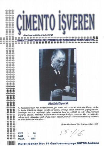 Cimento Isveren Dergisi Ocak 2002 By Ceis Takvim Issuu